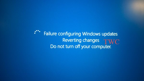 Failure configuring Windows updates