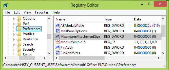 outlook Attachment Size Exceeds The Allowable Limit