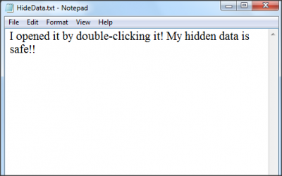 Double click to open text file