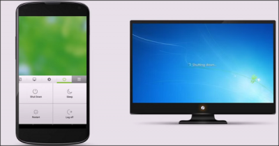 Shut down PC from mobile using Remote Mouse