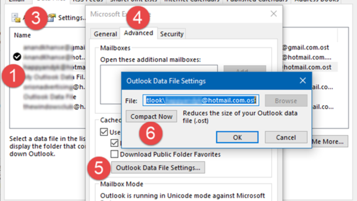 How to compact and reduce mailbox size in Microsoft Outlook 2016