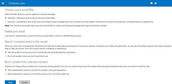 outlook privacy settings 3