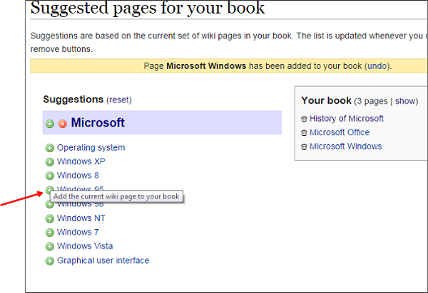 Add suggested Wiki page to eBook