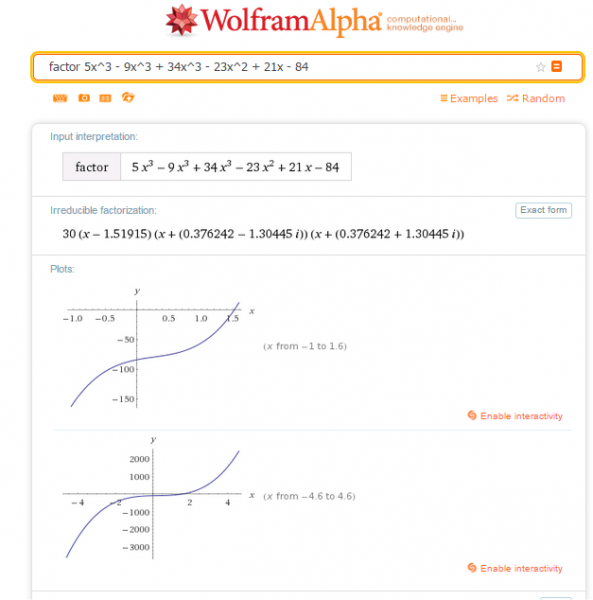 Calculate Mathematics Wolfram Alpha