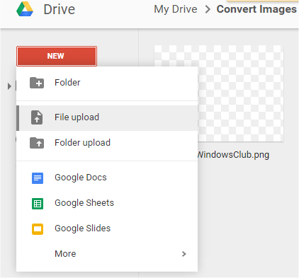 Convert images to text_upload file