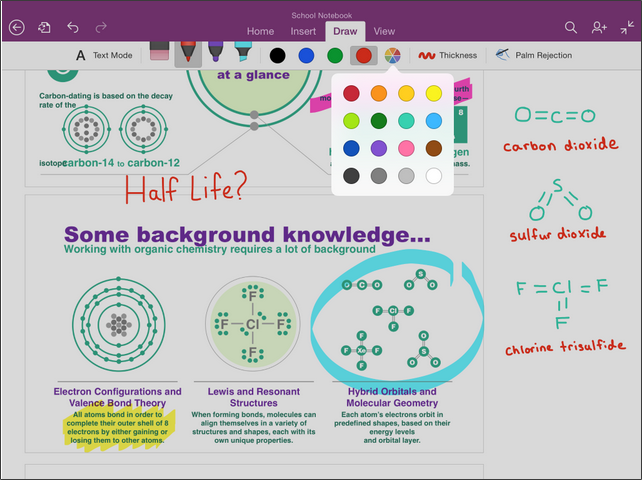 Drawing in OneNote
