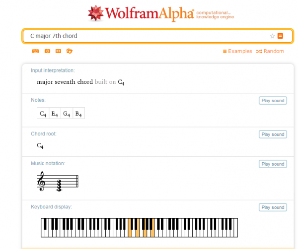 Know about Music Wolfram Alpha