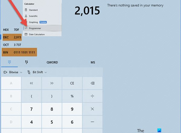 How to use Windows Calculator to convert Decimal to Binary