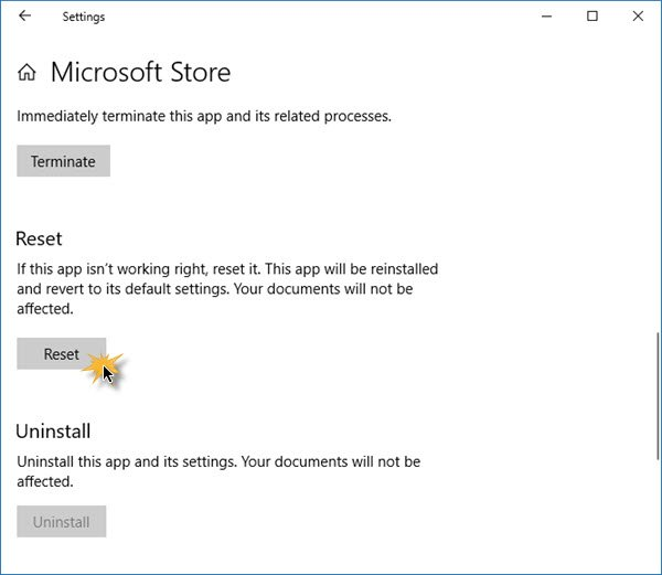 Windows Store not opening or closes immediately after opening