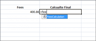 access the excel custom function