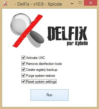 Delfix disinfection tool removal