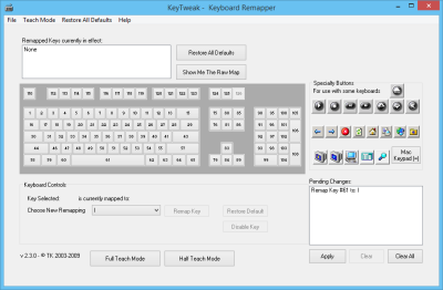Reassign and redefine Keyboard Keys