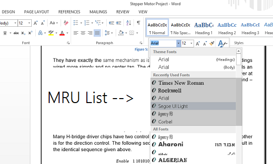 Most-recently-used fonts-list-in-Word-2013-2
