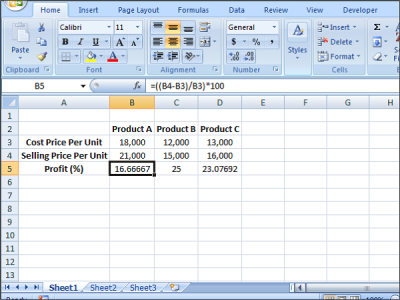 solve Equations in Excel using Solver Add-in