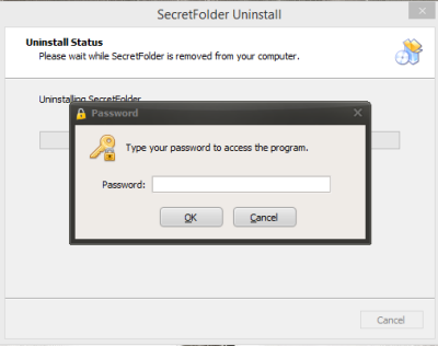 SecretFolder Uninstall