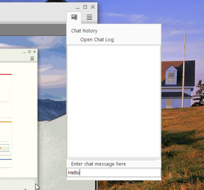 AnyDesk chat window
