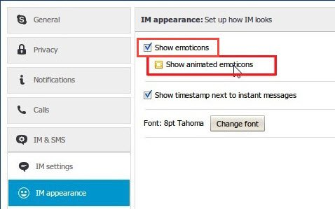 disable Emoticons in Skype