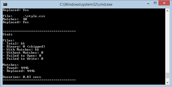 Find and Replace text using Command prompt