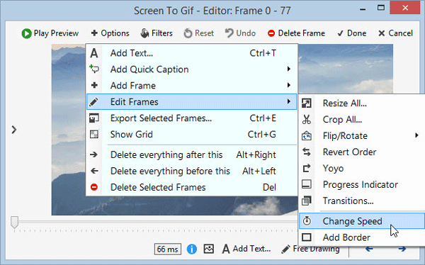 Create GIF image using Screen To GIF