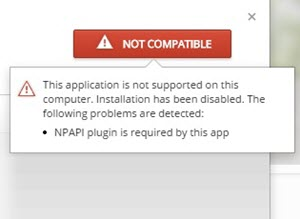 This application is not supported