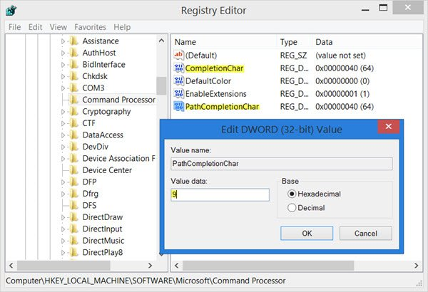 autocomplete in command prompt