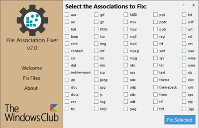 File Association Fixer for Windows