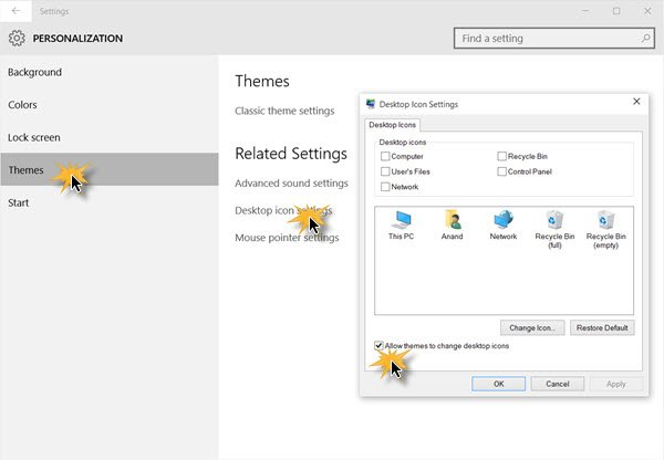 Prevent themes from changing Desktop icons