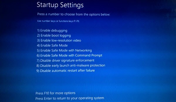 Change Windows 10 Boot defaults