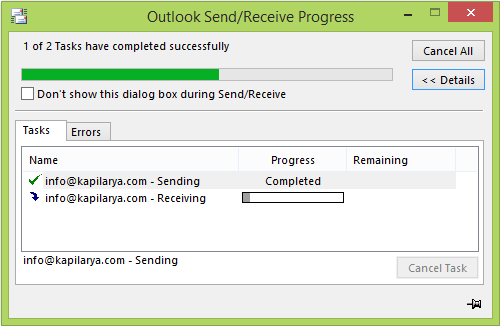 Outlook Email stuck in Outbox