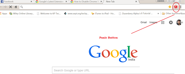 Panic Button for Google Chrome