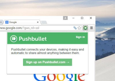 Setup & use PushBullet with Chrome & Android