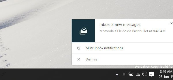Push Notification on PushBullet