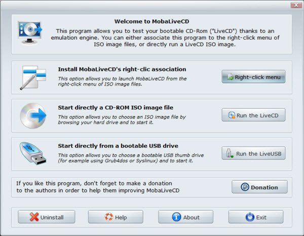 check if USB is bootable mobalivecd