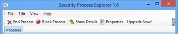 Glarysoft Security Process Explorer