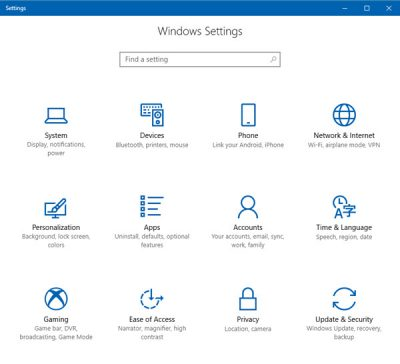 Launch Windows 10 Settings Pages directly using these commands