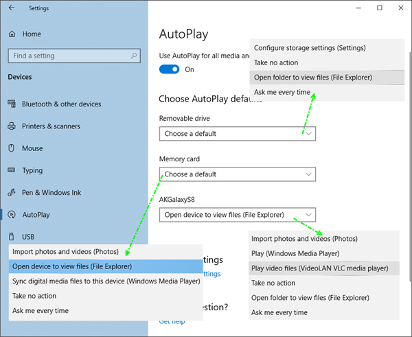 autoplay in windows 10