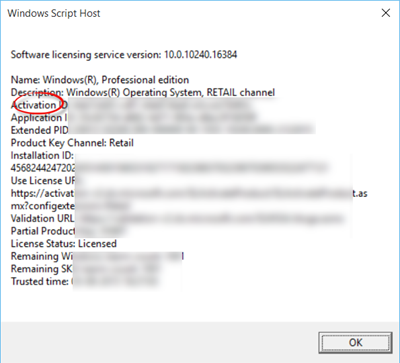 activated windows 10 key