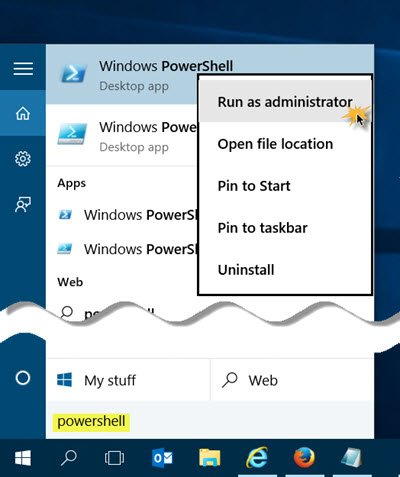 run this or that ascendancy inwards PowerShell to  How to opened upwardly an elevated PowerShell prompt inwards Windows 10