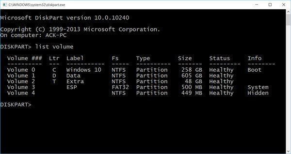 List Drives in Command Prompt