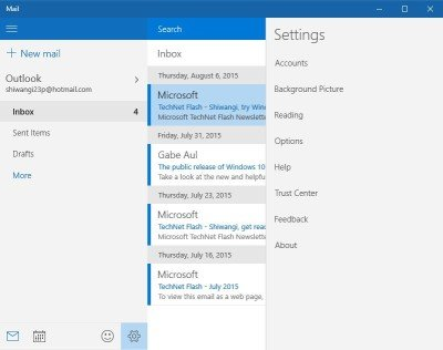 Turn on Windows 10 Mail app Email Notifications