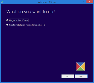 Use Media Creation Tool to Clean install or Upgrade to Windows 10