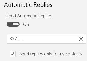 automatic replies mail app