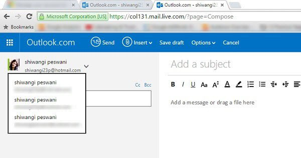 Outlook Email Alias