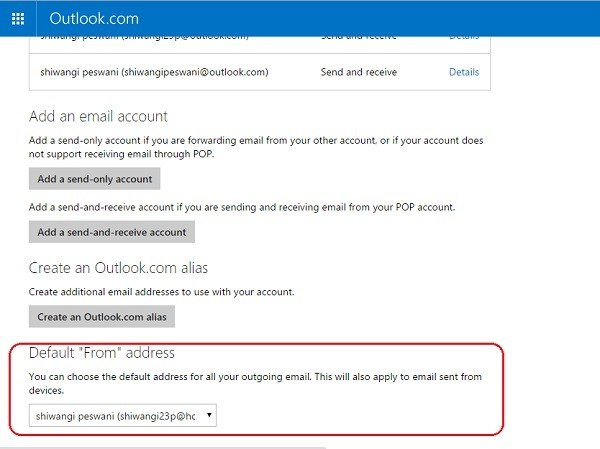 How to create, add, delete, use Outlook Email Alias or Microsoft Accounts