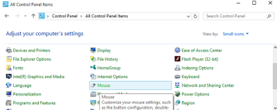 Control panel Mouse