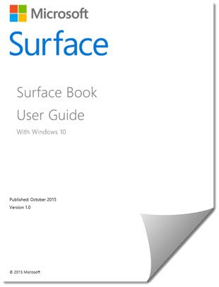 Surface Book and Surface Pro 4 User Guides