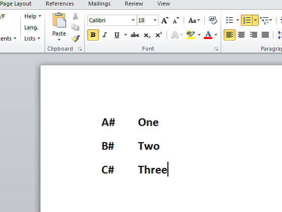 Customize Numbered List in Microsoft Word