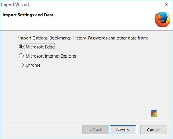 Import Bookmarks in Firefox
