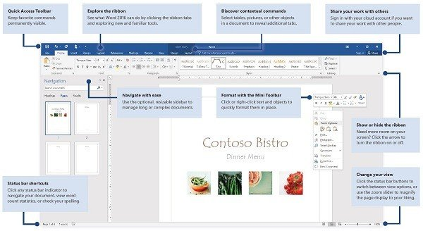 Microsoft Office 2016 Quick Start Guides