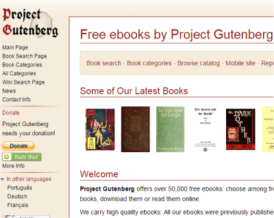 download free eBooks legally project gutenberg